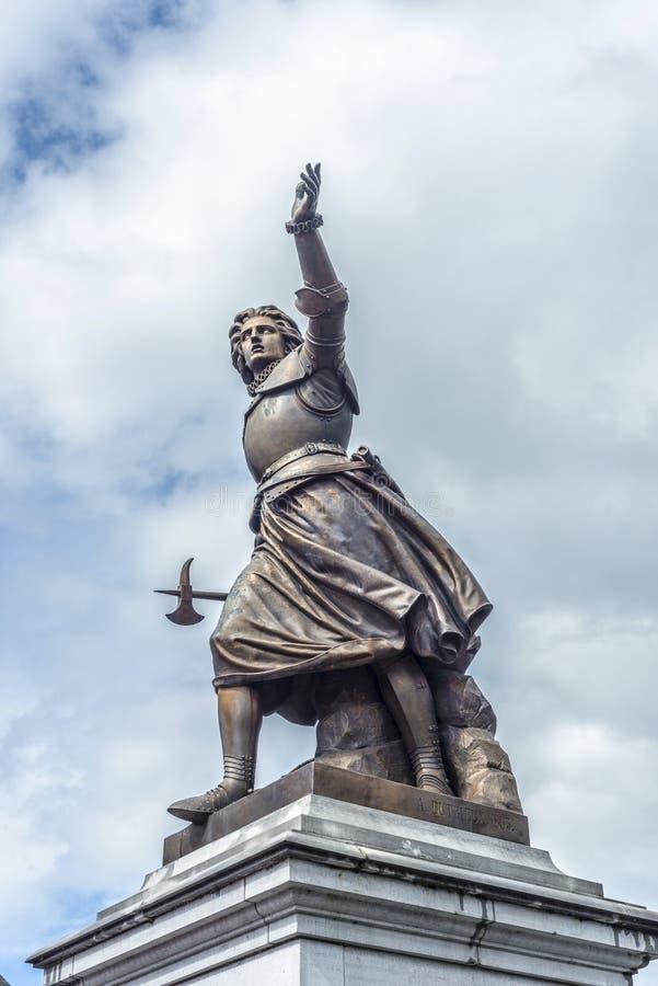 Marie-Christine de Lalaing dans Tournai, Belgique. images stock