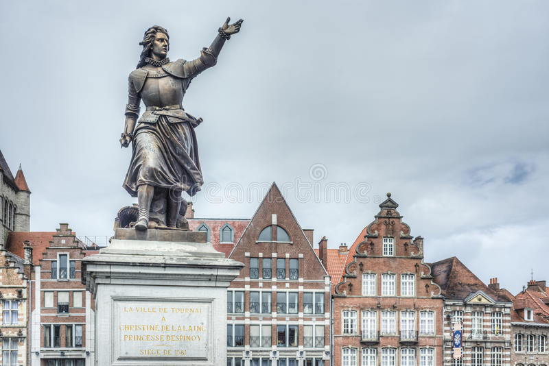 Marie-Christine de Lalaing dans Tournai, Belgique. photo stock