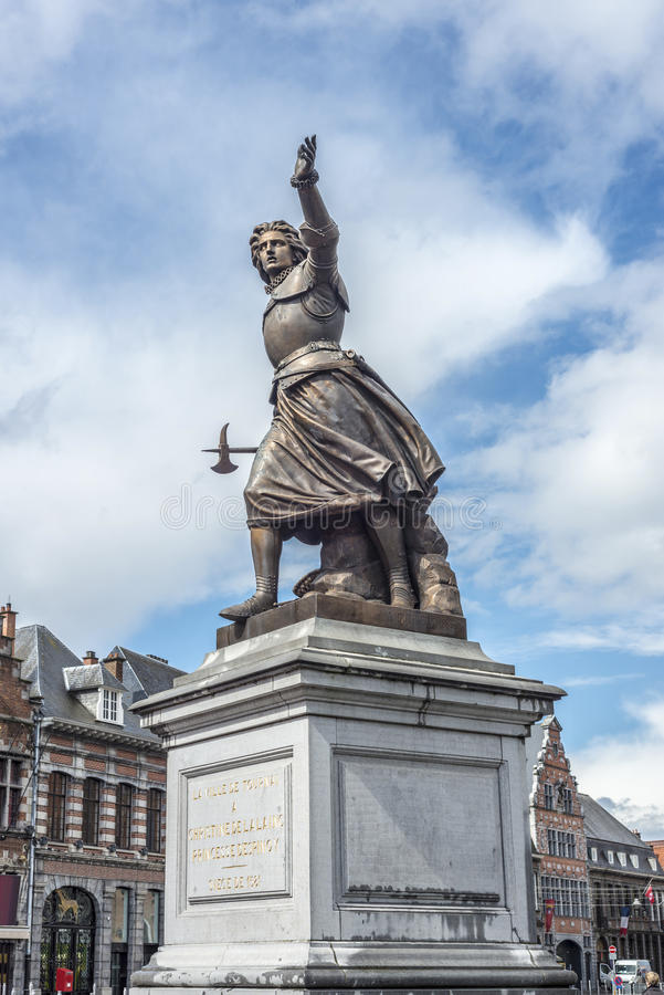 Marie-Christine de Lalaing dans Tournai, Belgique. images libres de droits