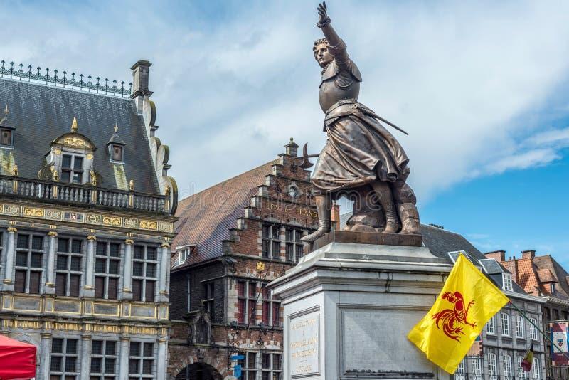 Marie-Christine de Lalaing dans Tournai, Belgique photographie stock libre de droits