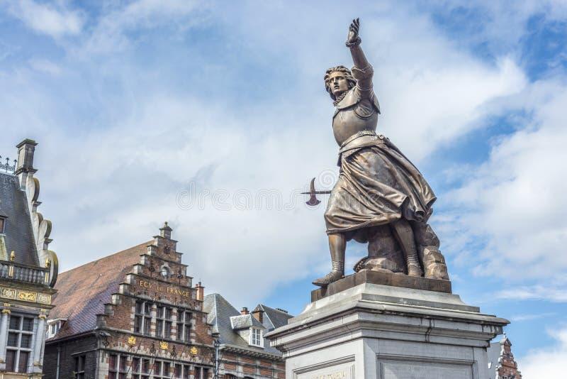 Marie-Christine de Lalaing en Tournai, Bélgica. imágenes de archivo libres de regalías