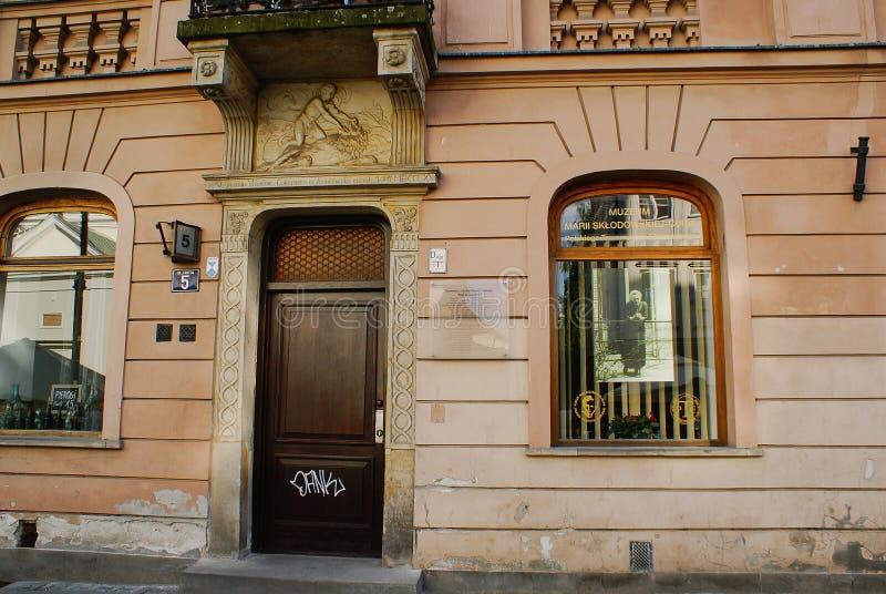 Marie Curie Museum in Warschau lizenzfreies stockbild