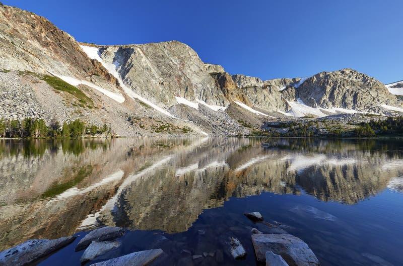 Marie Lake snöig område, Wyoming arkivbilder
