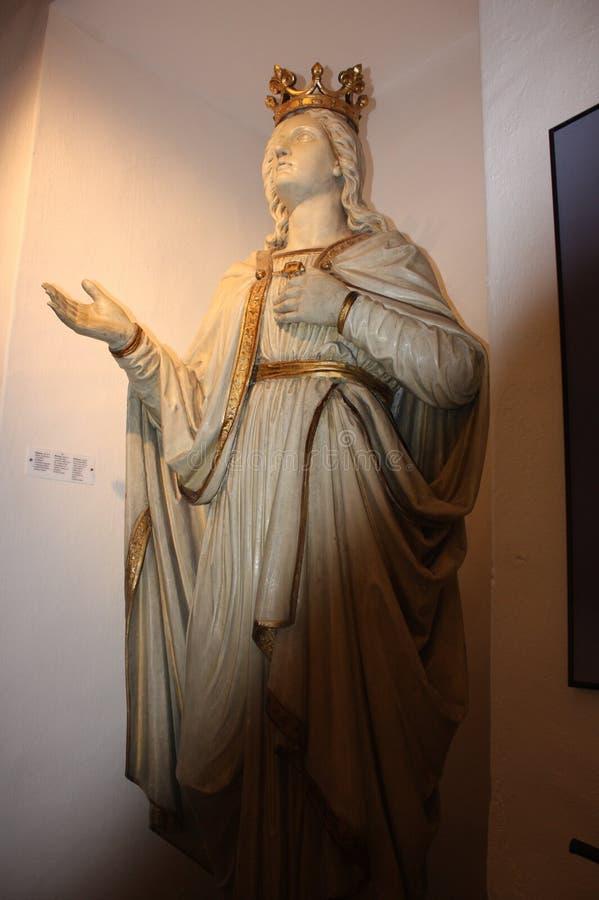 Marie Panny Statue royaltyfri fotografi