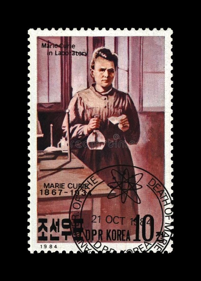Marie Sklodowska-Curie, phisicist, ganador del premio polaco Nobel, científico bien conocido, observador de la radiactividad, cir imagen de archivo
