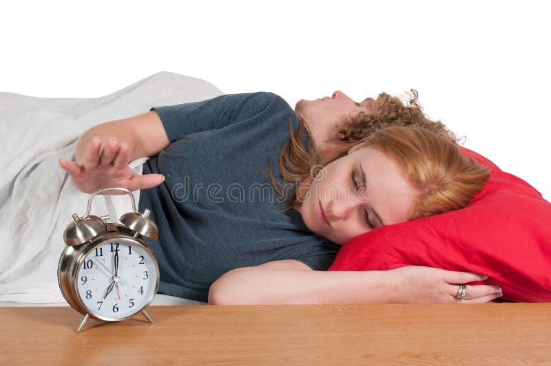 Maried para w łóżku zdjęcie royalty free