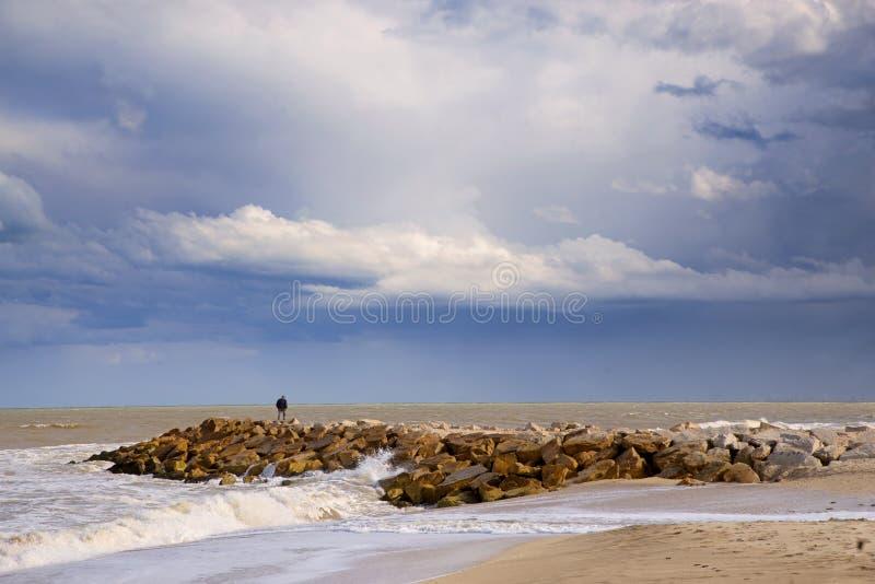 Marien landschap Mar del Plata, Argentinië royalty-vrije stock fotografie