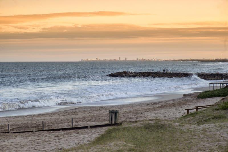 Marien landschap Mar del Plata, Argentinië royalty-vrije stock afbeeldingen