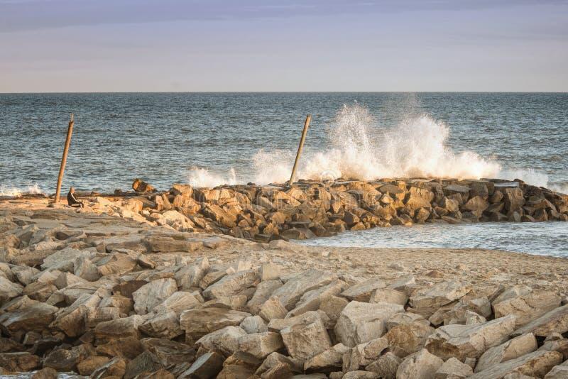 Marien landschap Mar del Plata, Argentinië stock afbeeldingen
