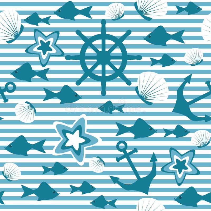 Marien naadloos patroon vector illustratie