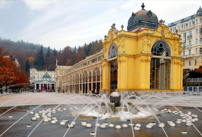 Marienbad Kolonnade stockfotos