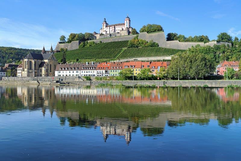 Marienbergvesting in Wurzburg, Duitsland royalty-vrije stock afbeeldingen