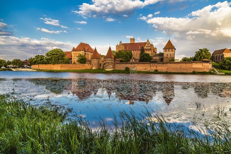 Marienburg Castle - κατοικία των κυρίων του τευτονικού ή στοκ εικόνα με δικαίωμα ελεύθερης χρήσης