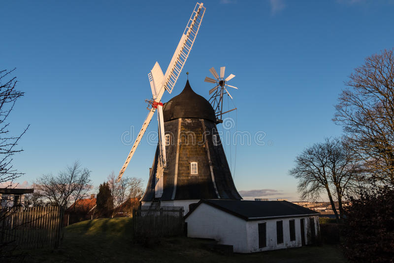 Mariendal Wind Mill, Aalborg Denmark stock images