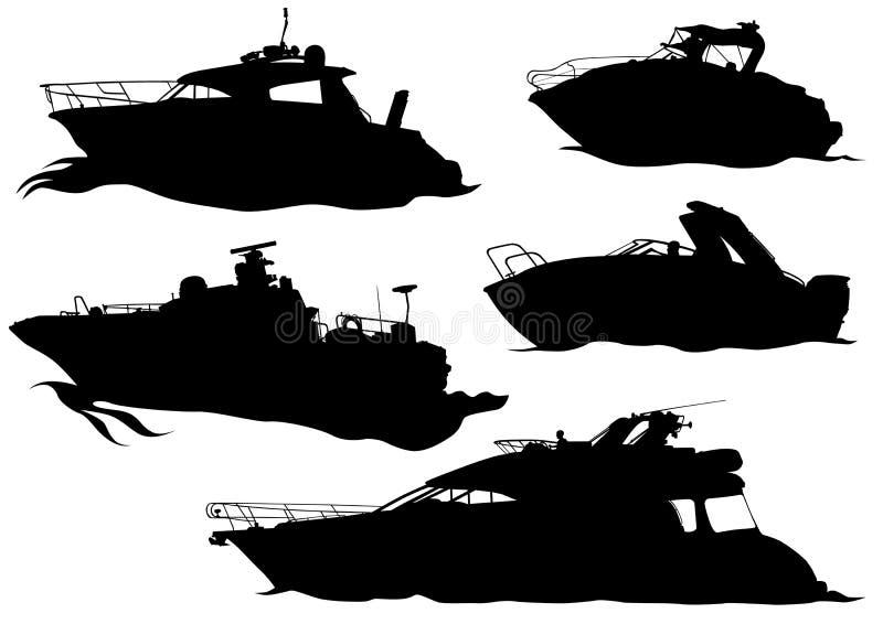 Mariene boten vector illustratie