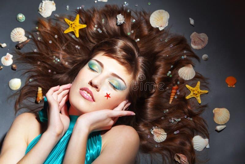 Mariene make-up royalty-vrije stock afbeelding