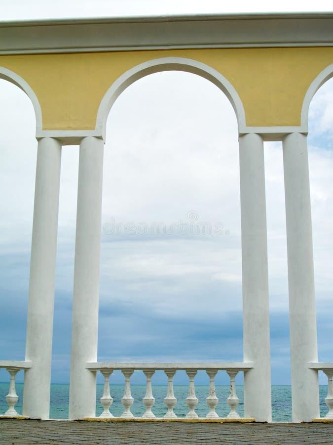 Mariene poort, balustrade stock afbeelding