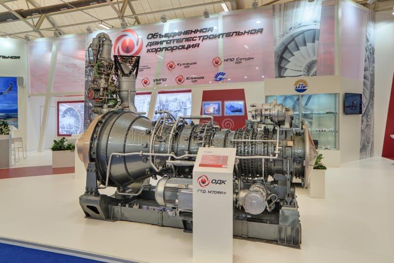 Mariene schip turboshaft motor royalty-vrije stock fotografie