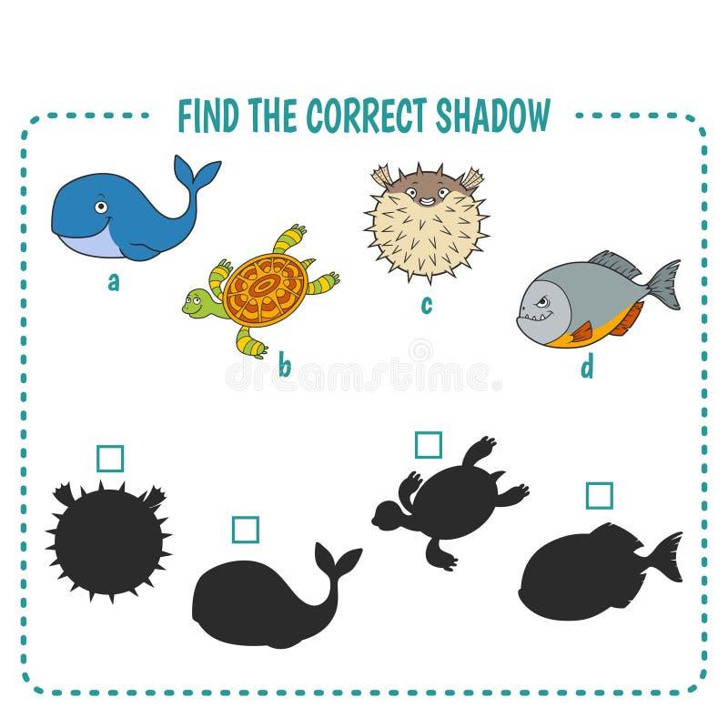 Mariene vissen stock illustratie