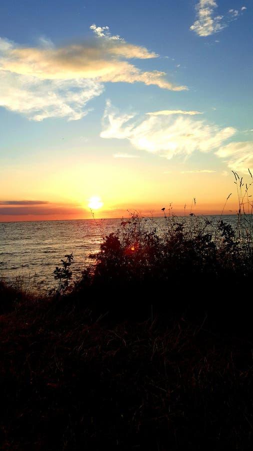 Mariene zonsondergang stock afbeeldingen
