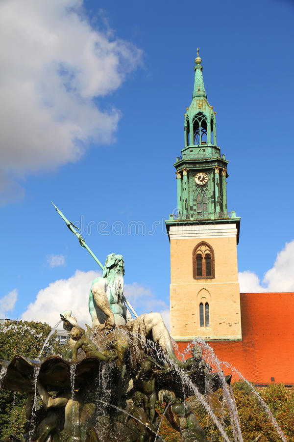 Download The Marienkirche In Berlin, Germany Stock Photo - Image of alex, blue: 32052088