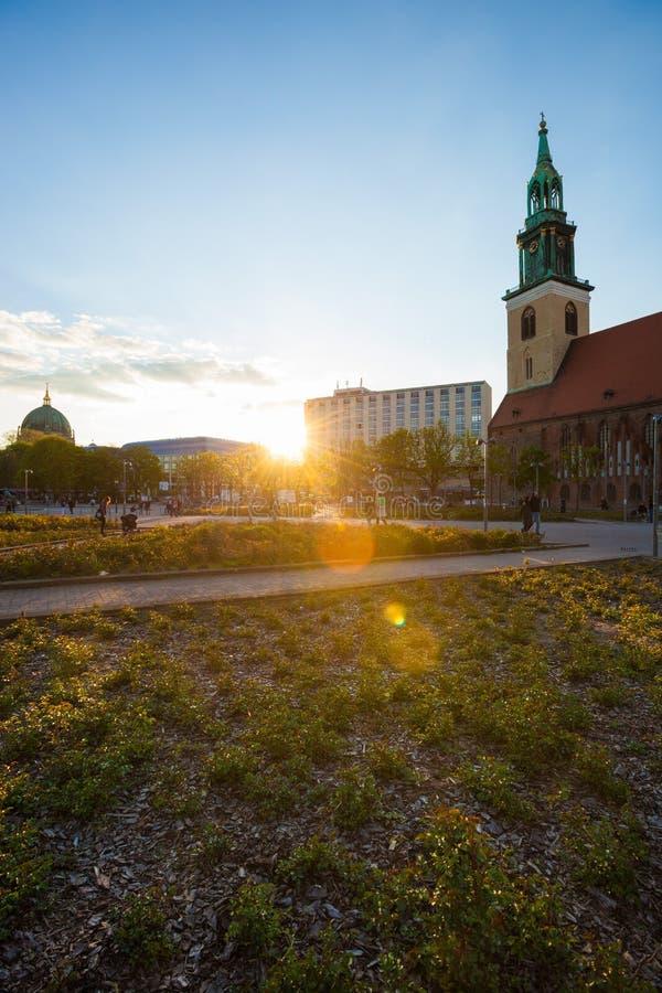 Marienkirche de Berlín (la iglesia de St Mary) fotografía de archivo libre de regalías