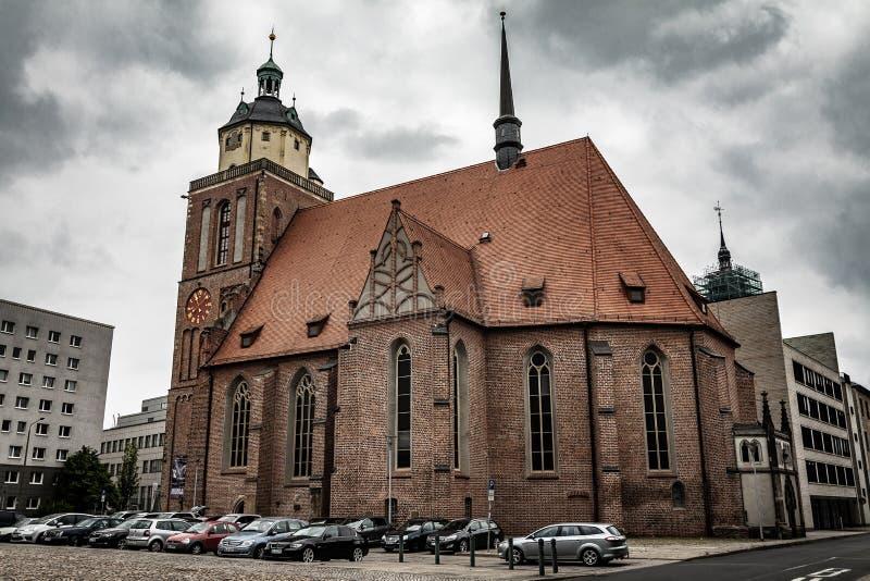 Marienkirche em Dessau fotos de stock