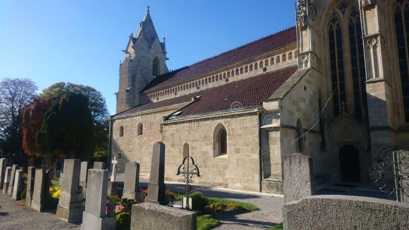 Marienkirche in Kirchenberg Slechte deutsch-Altenburg royalty-vrije stock foto's