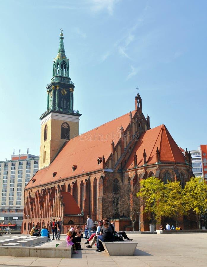 Marienkirche w Berlin, Niemcy fotografia stock