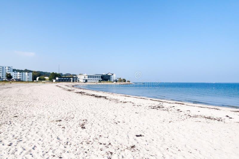 Marienlyst plaża w Helsingor, Dani obrazy royalty free
