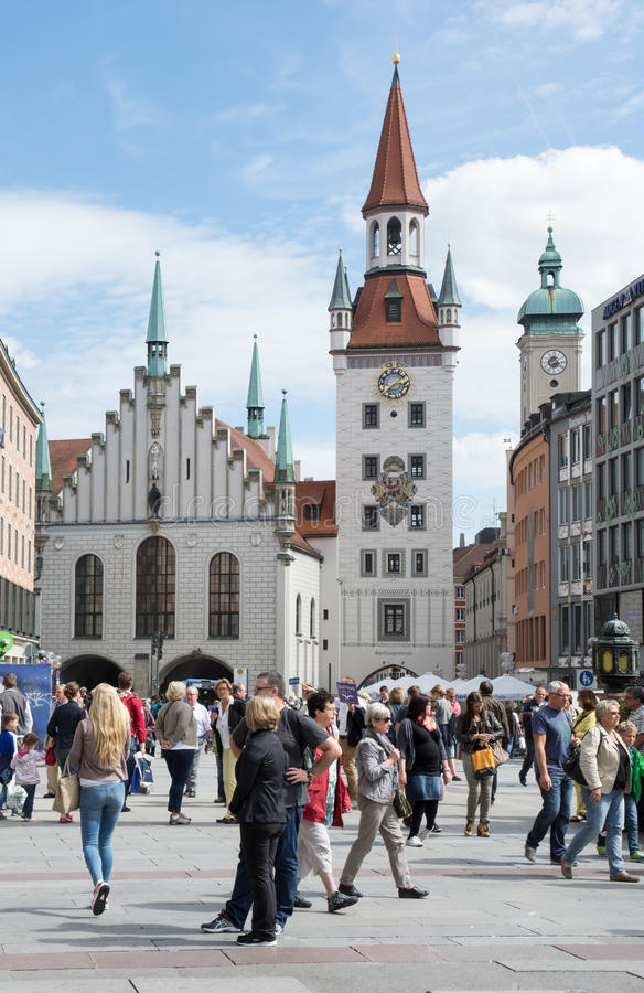 marienplatz慕尼黑 免版税图库摄影