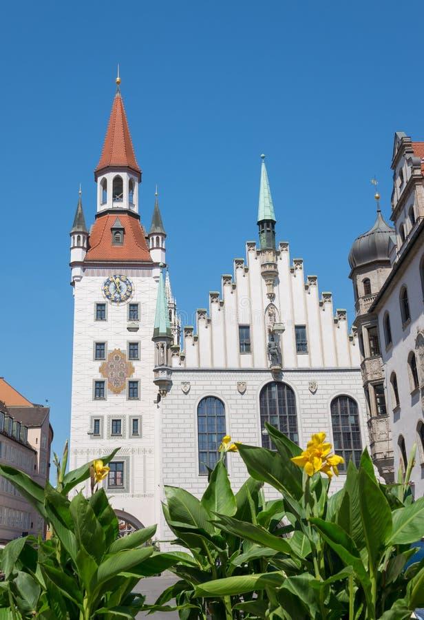 Marienplatz,慕尼黑-德国 库存图片