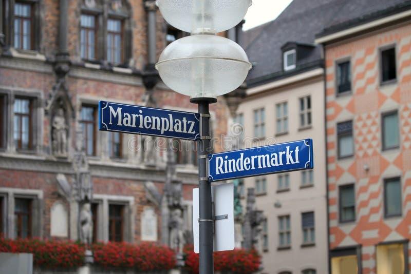 Marienplatz à Munich, allemand photographie stock libre de droits