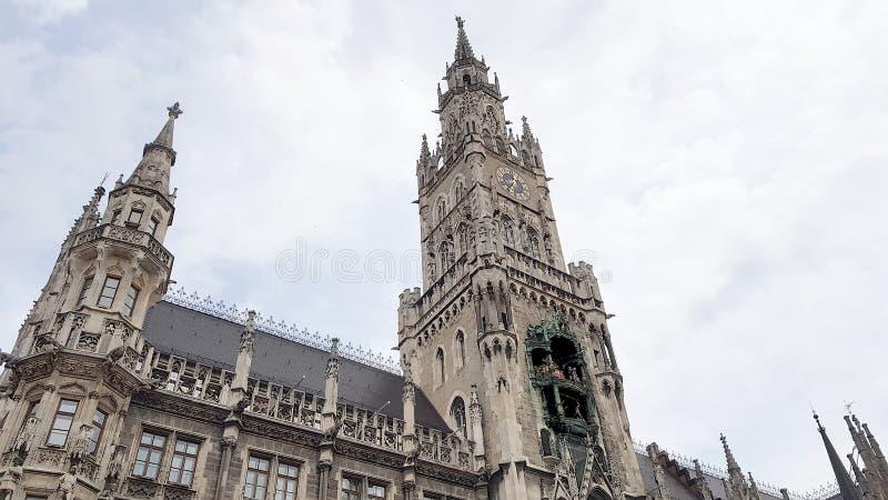 Marienplatz in the center of Munique. Germnay stock photography