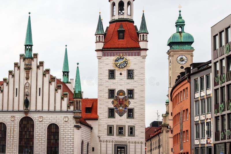 Marienplatz en Munich, Alemania foto de archivo libre de regalías
