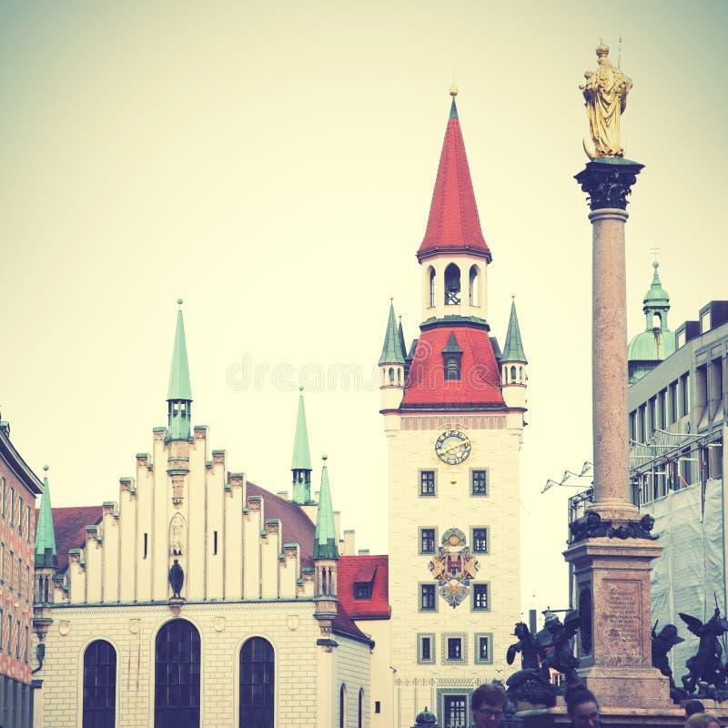 marienplatz munich стоковые фотографии rf