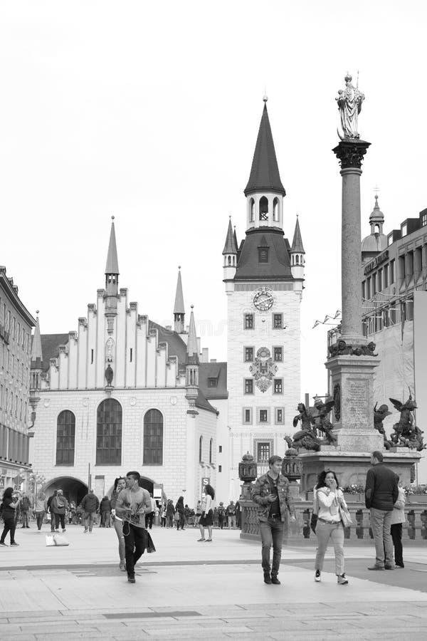 marienplatz munich стоковые изображения