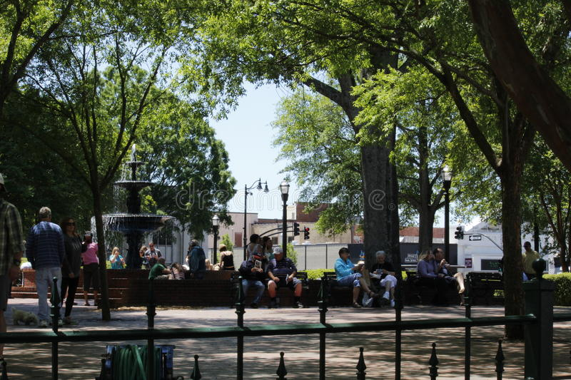 The Square in Marietta Georgia in May 2014. Marietta Georgia town square on a beautiful sunny afternoon in May of 2014 stock photography