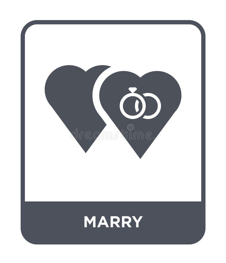 mariez l'icône dans le style à la mode de conception mariez l'icône d'isolement sur le fond blanc mariez le symbole plat simple e illustration de vecteur