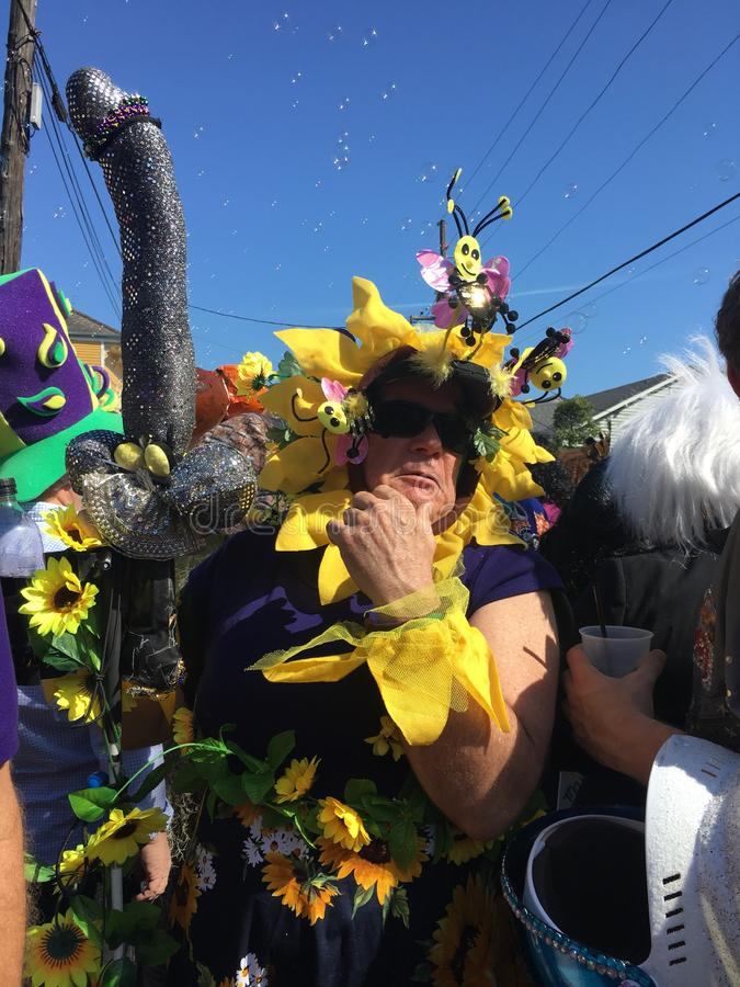 Mardi Gras New Orleans 2018 royalty free stock photography