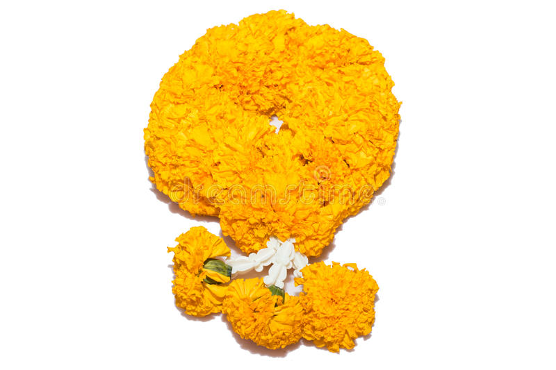 Marigold flowers garland stock images