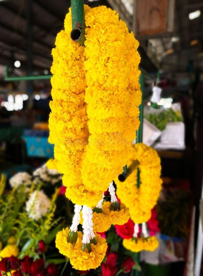 Marigold garland royalty free stock photography