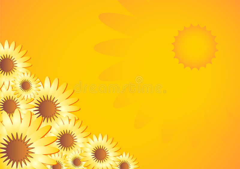 Marigold pattern_01 stock illustration