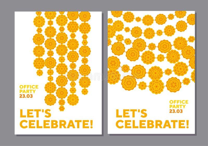 Marigolds γεωμετρικό floral σχέδιο στο ινδικό ύφος απεικόνιση αποθεμάτων