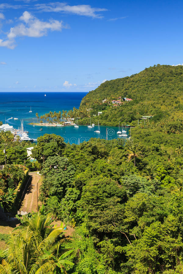 Marigot Bay, St Lucia royalty free stock photography