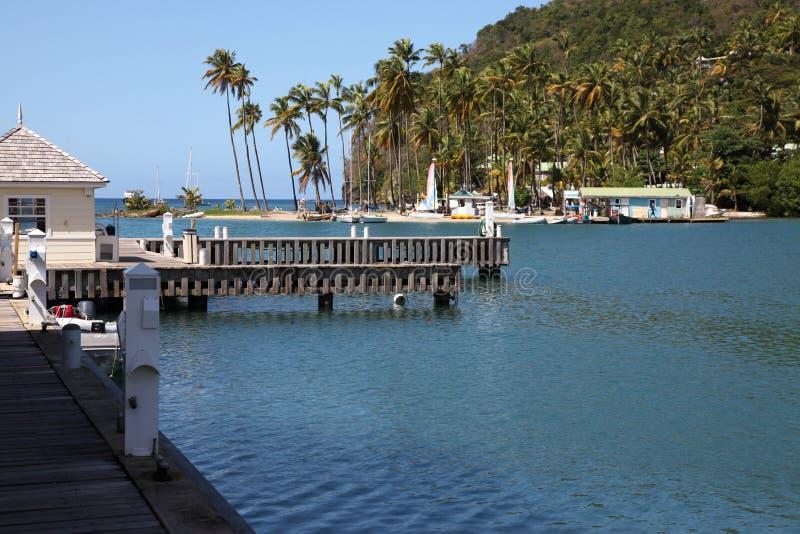 Marigot zatoka Quay obraz stock