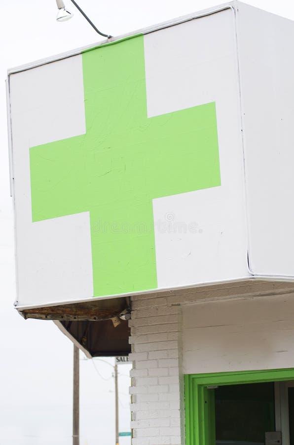 Marihuana-Apotheken-Speicher stockbilder
