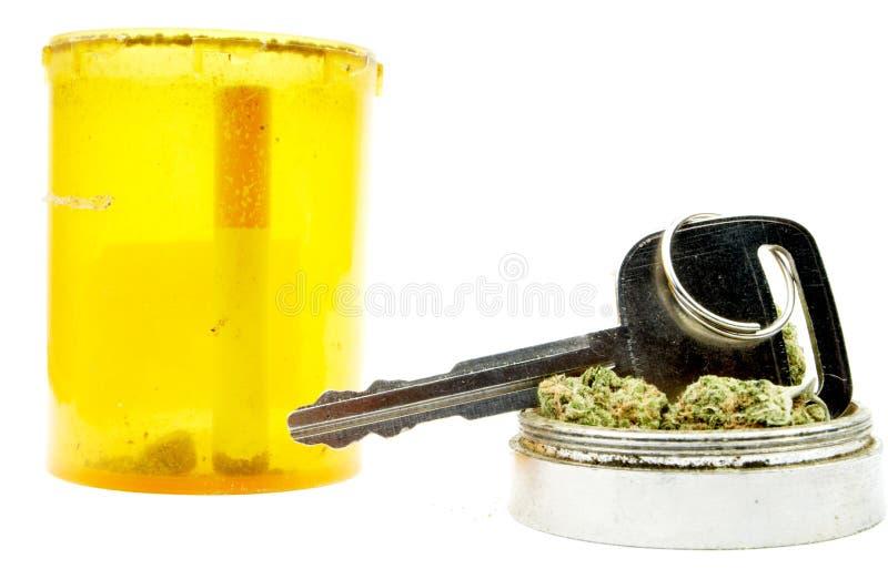 Marihuana, Autosleutel, die onder de Invloed drijven stock fotografie