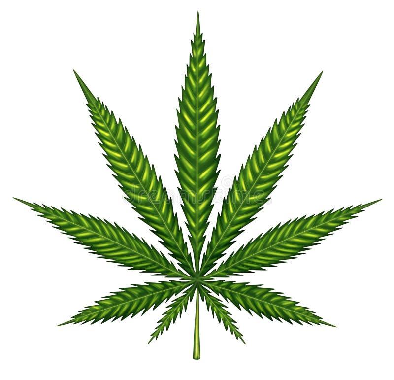 Marihuana-Blatt lokalisiert vektor abbildung