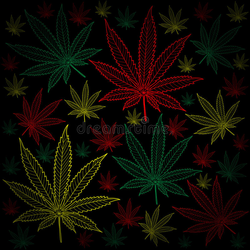 Marihuana-cannabis-achtergrond vector illustratie